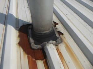 Cut Edge Corrosion Around Flue